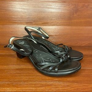 Abeo black leather sandals- Gayle- Size 8